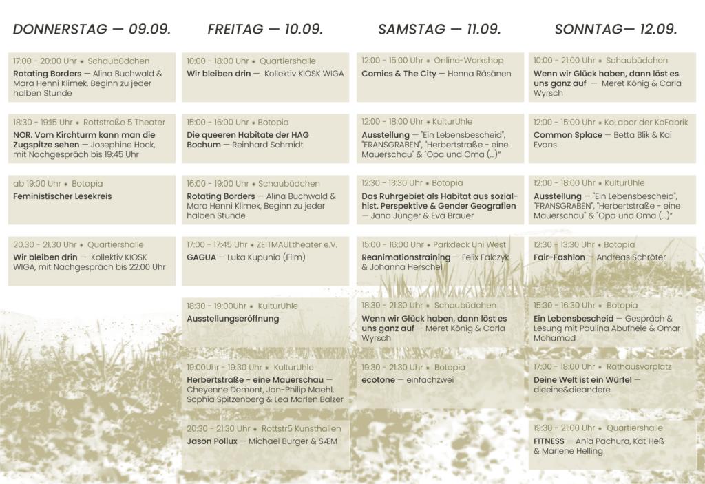Programmübersicht ZeitZeug_Festival 2021